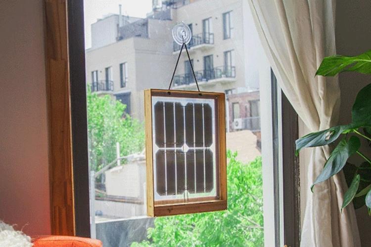 Pannelli solari da finestra.