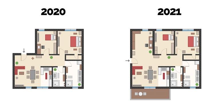 La planimetria della casa dei sogni del 2021
