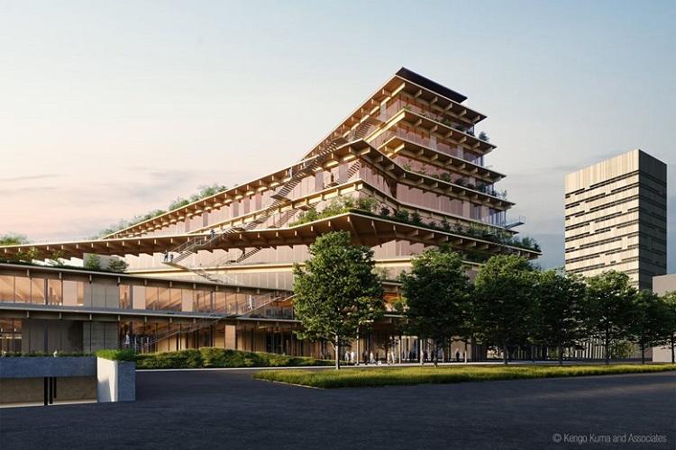 Il progetto Welcome, feeling at work, di Kengo Kuma & Associates