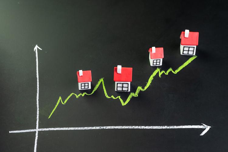 Crescita di compravendite immobiliari
