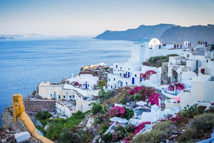 Case a Santorini, in grecia