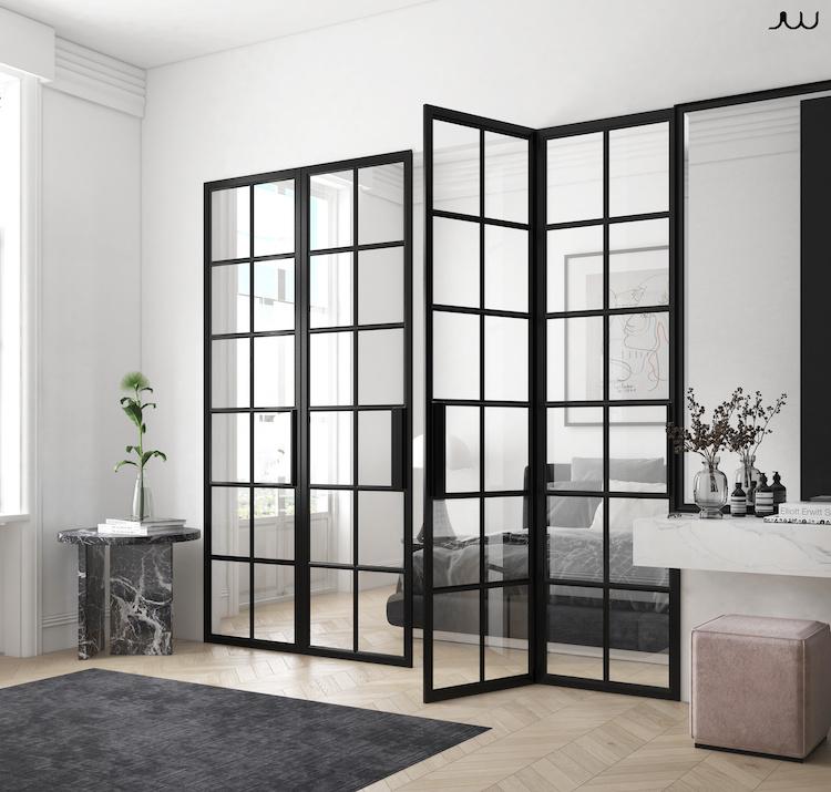 Monolocale con parete vetrata