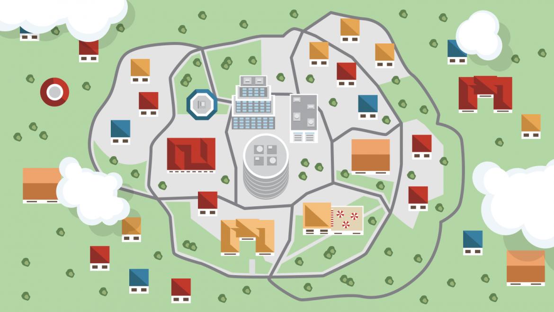 I quartieri delle città italiane