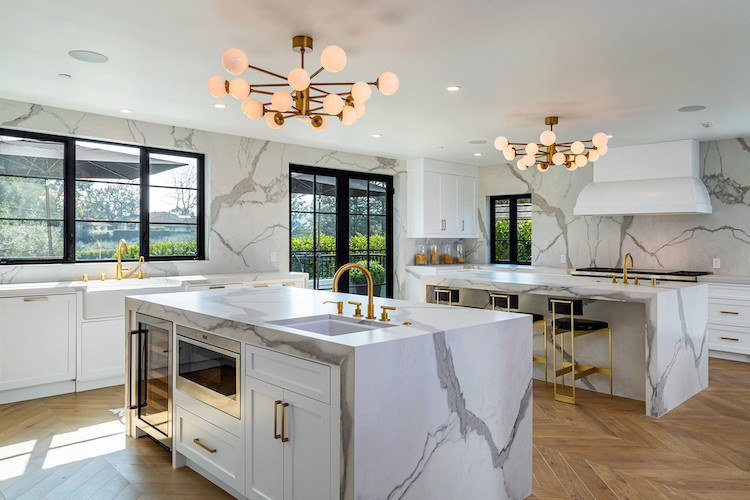 La cucina della casa di Rihanna