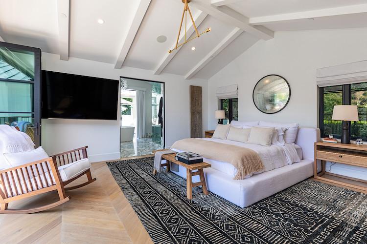 La camera da letto della casa di Rihanna