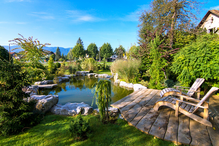 Casa con laghetto privato