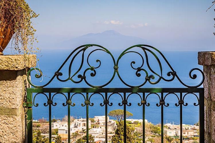 La vista della villa di De Sica a Capri