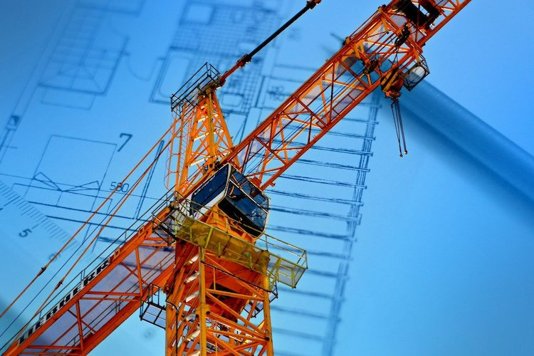 Cantiere per nuove costruzioni