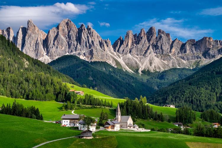 Veduta delle Dolomiti dell'Alto Adige