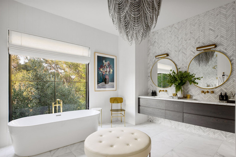 La villa di Joe Jonas e Sophie Turner,  il bagno