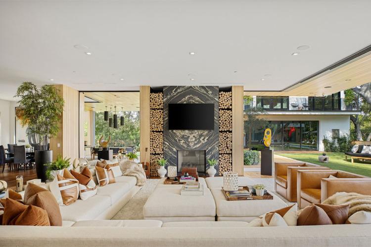 La villa di Joe Jonas e Sophie Turner, la zona giorno