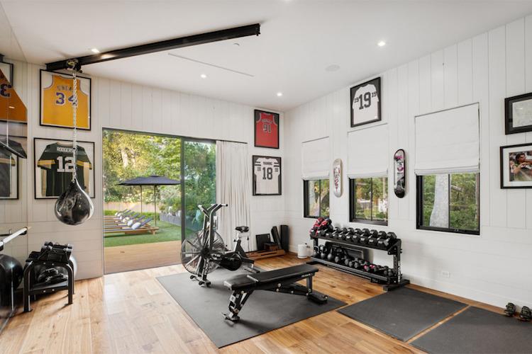 La villa di Joe Jonas e Sophie Turner, la palestra