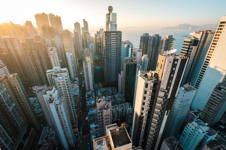 Grattacieli di una città cinese